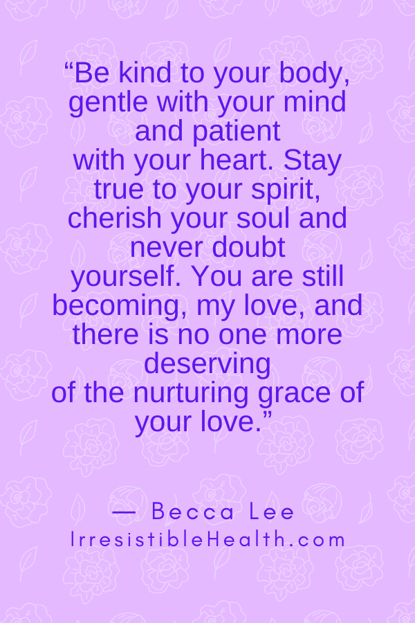lee self care quote